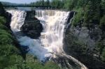 The Kakabeka Falls are situated near Thunder Bay, Ontario, Canada.