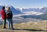 A spectacular view of the Kaskawulsh Glacier in Kluane National Park in the Yukon Territory in Canada, North America.