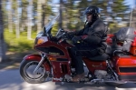 Randy, an employee at the Tuckamore Lodge in Main Brook, Newfoundland, Canada likes to spend time cruising on his Kawasaki Voyager XII Motorcycle.