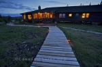 Photo: Labrador Fishing Lodge Boardwalk Night Lights