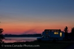 Photo: Lake Audy Sunset Camper Riding Mountain National Park Manitoba