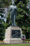 On the grounds of the Legislative Building in the City of Winnipeg, Manitoba, stands a statue of Jon Sigurdsson, a patriot of Iceland.