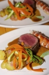 Photo: Lobster Beef Vegetables Meal Rifflin Hitch Lodge