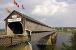 This bridge in Hartland, New Brunswick, Canada is the longest covered bridge found throughout the world and is used to for crossings over the Saint John River.