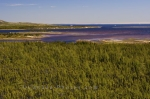 The land rises above the water at low tide around the Pinware River Mouth along the Labrador Coastal Drive in Southern Labrador.