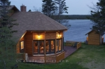 Luxury accommodations in the midst of the Newfoundland wilderness can be found at the Tuckamore Lodge near the town of Main Brook.
