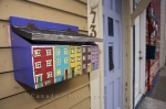 Residents in St. John's, Newfoundland love to decorate their mailboxes with artwork pertaining to Jellybean Row.