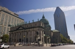 Across from Place du Canada in Montreal City, Quebec stands the historic building home to Mary, Queen of the World Cathedral.