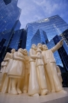 Photo: McGill College Avenue Illuminated Crowd Sculpture Montreal