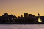 Photo: Montreal Skyline Sunset St Lawrence River
