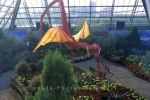 A dragon in the Muttart Conservatory in Edmonton in Alberta, Canada.