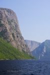 The beauty of the Long Range Mountains of Western Brook Pond in Newfoundland, Canada from the water on one of the boat tours.