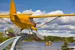 In the town of Red Lake is the Norseman Heritage Centre Park displaying a Norseman aircraft on a pedestal and another Norseman aircraft glides on the water.