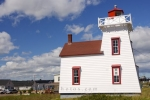 A historic building that sits along the edge of the town of North Rustico, Prince Edward Island is home to the North Rustico Lighthouse.