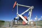 An oil pump in Southern Alberta, Canada.