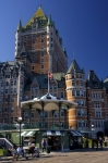 The luxurious accommodations at the Fairmont Le Chateau Frontenac in Old Quebec in Quebec, Canada are topped off with beautiful scenery of the Gulf of St. Lawrence and the Terrasse Dufferin.