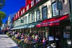 Photo: Outside Cafes Place D Armes Old Quebec