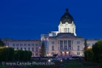 Photo: Parliament Building Dusk Illumination Regina City Saskatchewan