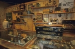 Supplies that date back many years line the shelfs in a historic building at the Parry Sound Museum in Ontario, Canada.