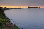 Photo: Perce Town Sunset Gaspesie Peninsula Quebec