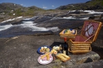 The serenity that surrounds the Mealy Mountains in Southern Labrador can be fully enjoyed as you sit by the rushing waterfall with a picnic lunch.