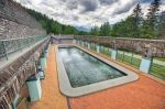 A great place for relaxation, after a day of hiking is the pool of the Cave and Basin National Historic Site near in Banff, Alberta.