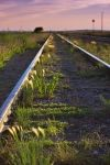 Photo: Prairie Landscape Railway Tracks Morse Saskatchewan