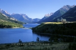A wonderful location for a hotel: The Prince of Wales Hotel in the Waterton Lakes National Park of Alberta, Canada.