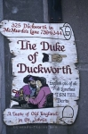 Photo: The Duke of Duckworth Pub Sign St Johns