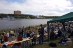 Photo: Quidi Vidi Lake Regatta Market Stalls St Johns Newfoundland