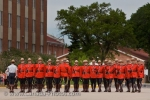 During the Sergeant Major's Parade and Graduation ceremony, the RCMP Academy stand at attention.