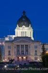 Photo: Saskatchewan Legislative Building Dusk Lights Regina City