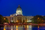 Photo: Saskatchewan Legislative Building Night Lights Regina City