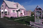 Fabulous accommodations are available at this cheerful looking house in Gaspe Peninsula in Quebec, Canada.
