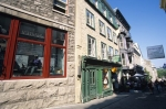 The downtown core of Quebec City in Canada has streets lined with shops for tourists to browse through.
