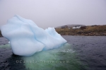 A small iceberg made its way into Trap Cove on Great Caribou Island near the entrance to St. Lewis Inlet in Southern Labrador, Canada.