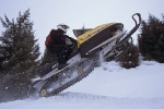 Snowmobile adventures on Whistler Mountain are a popular winter activity in British Columbia, Canada.
