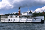 The Steamship Segwun cruises the waters of the Muskoka Lakes in Ontario, Canada.