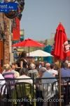 A sunny day has many visitors enjoying the cafe in the Byward Market in the city of Ottawa, Ontario.
