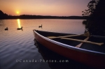 Photo: Sunset Canoe Algonquin Provincial Park