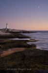 Photo: Sunset Peggys Cove Lighthouse Nova Scotia