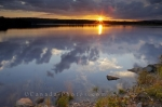 Photo: Sunset Reflections St Marys River Sherbrooke Nova Scotia