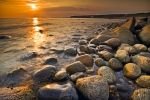 Photo: Sunset Rocky Beach Gros Morne National Park