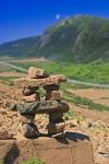 Photo: Tablelands Trail Inukshuk Gros Morne National Park Newfoundland