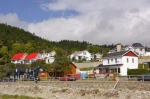 Beautiful homes decorate the town of Tadoussac along the Gulf of St. Lawrence in Quebec, Canada.