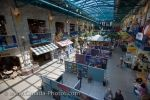 The interior of The Forks Market in the City of Winnipeg, Manitoba hosts a photography exhibition which attracts thousands of people.