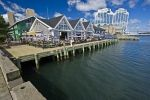 Along the waterfront of the Halifax harbour in Nova Scotia, Canada you will find an assortment of restaurants.