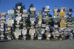 Thousands of signs at a famous tourist attraction in Watson Lake in the Yukon Territory in Canada.