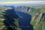 A beautiful aerial picture of Western Brook Pond in Newfoundland, Canada.