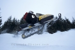Snowmobiling at Whistler Blackcomb in British Columbia, Canada is a great winter activity.